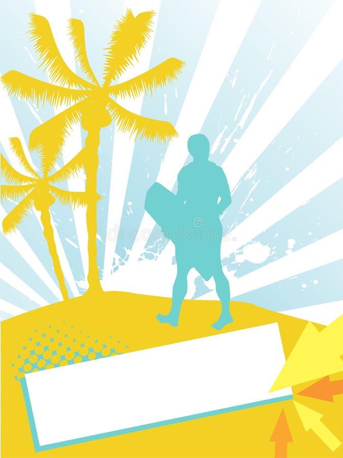 Summer - sport background vector illustration