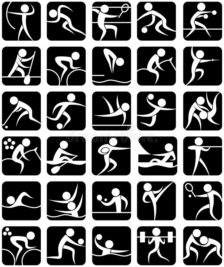 Free Summer Sports Symbols Royalty Free Stock Photo - 24676055
