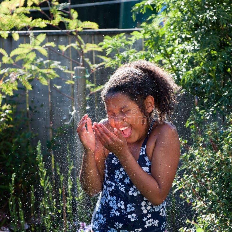 Download Summer Spray stock image. Image of girl, summer, hands - 11360451