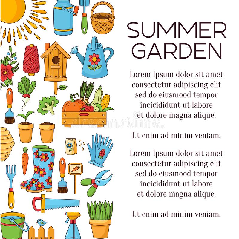 Garden artical vector icons design stock illustration