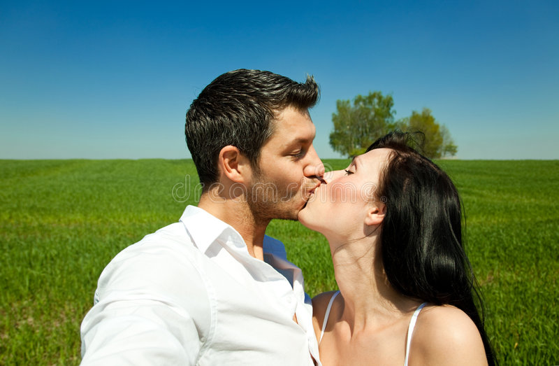 Summer spring kiss royalty free stock photos