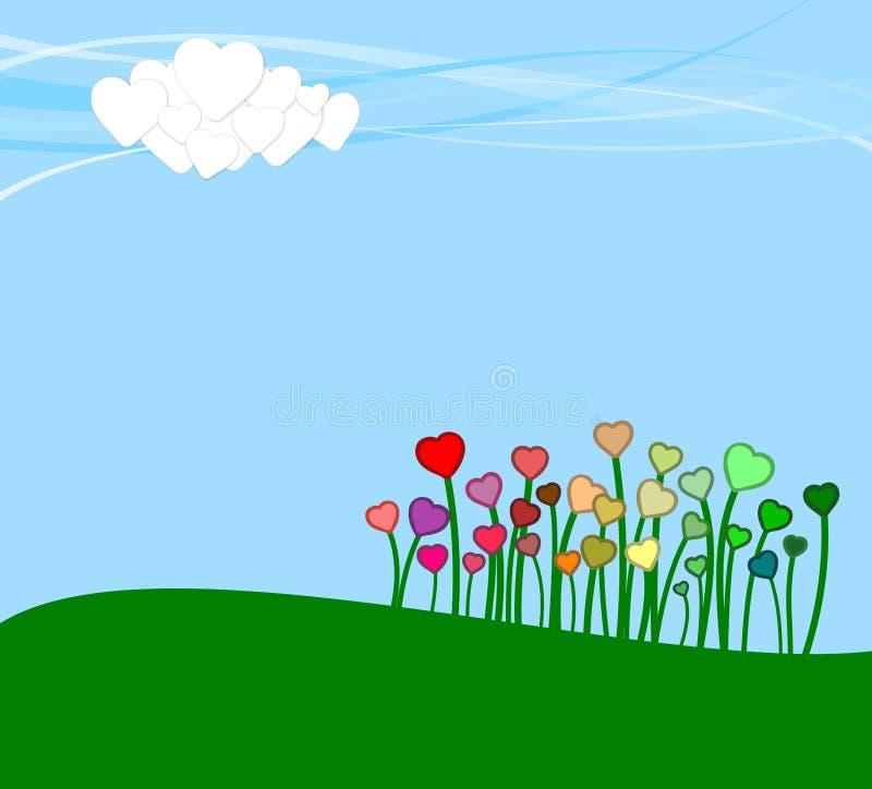 Summer or spring landscape for design banner royalty free stock images