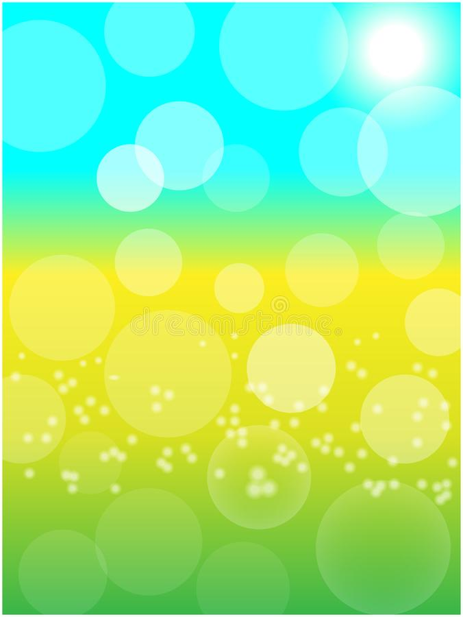 Summer spring sunny abstract background design template royalty free illustration