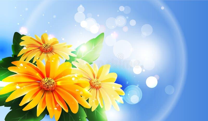 Summer or spring vector royalty free illustration