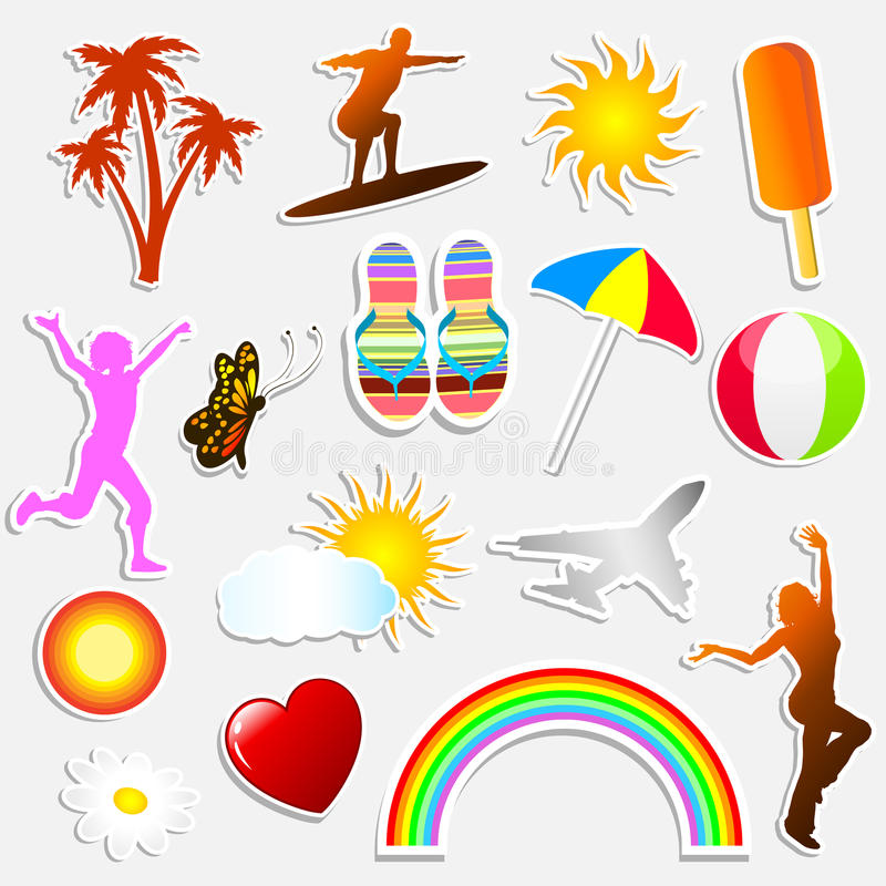 Download Summer Stickers Stock Photography - Image: 9565152