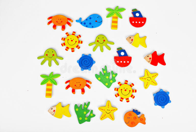 Summer stickers stock photo