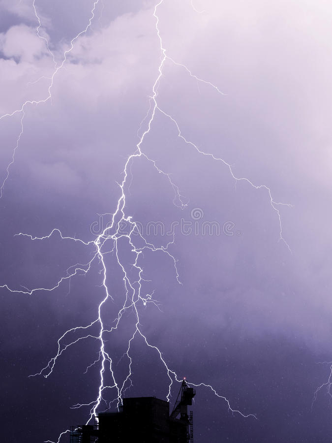 Summer storm stock photography