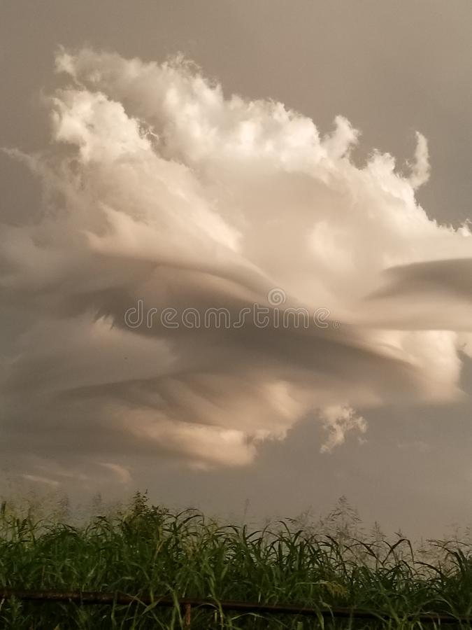 Summer Storm cloud sunset Oklahoma royalty free stock image