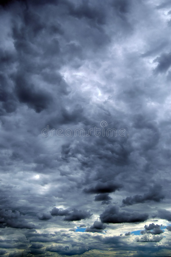 Summer storm clouds stock photos