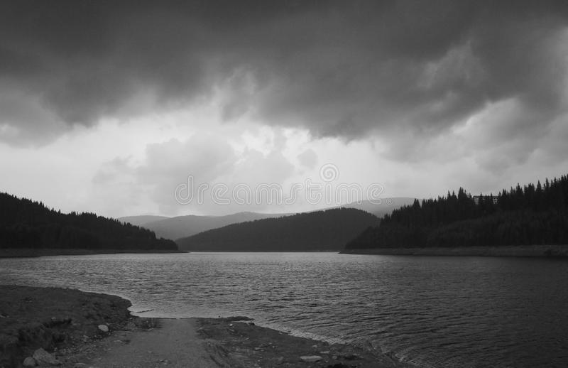 Summer Storm On The Top Of The Mountain Stock Photography