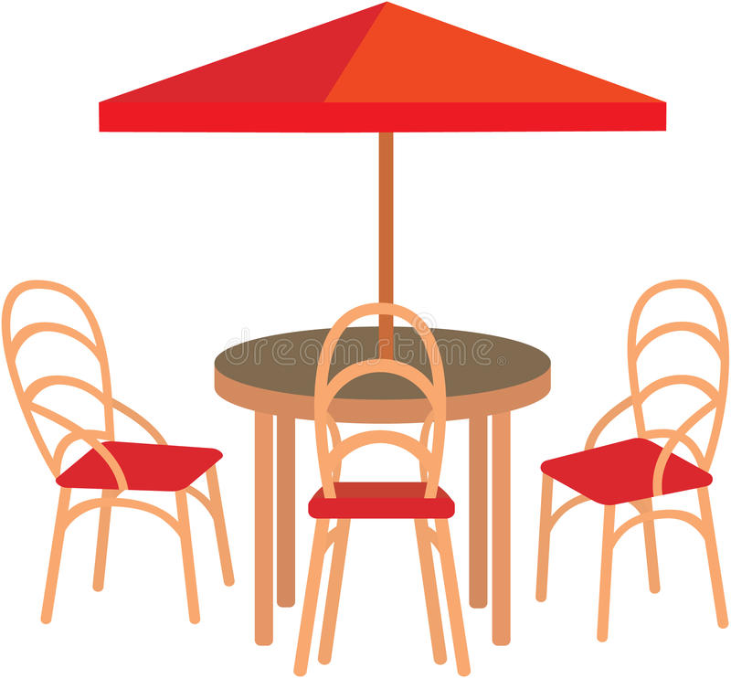 Summer street cafe royalty free illustration