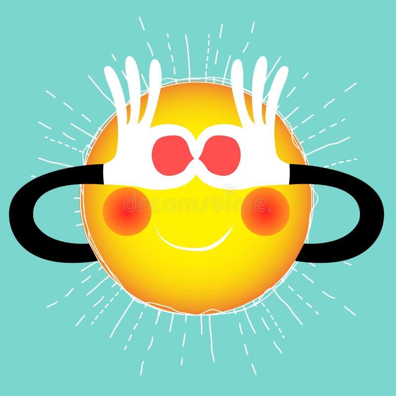 Summer sun vector illustration