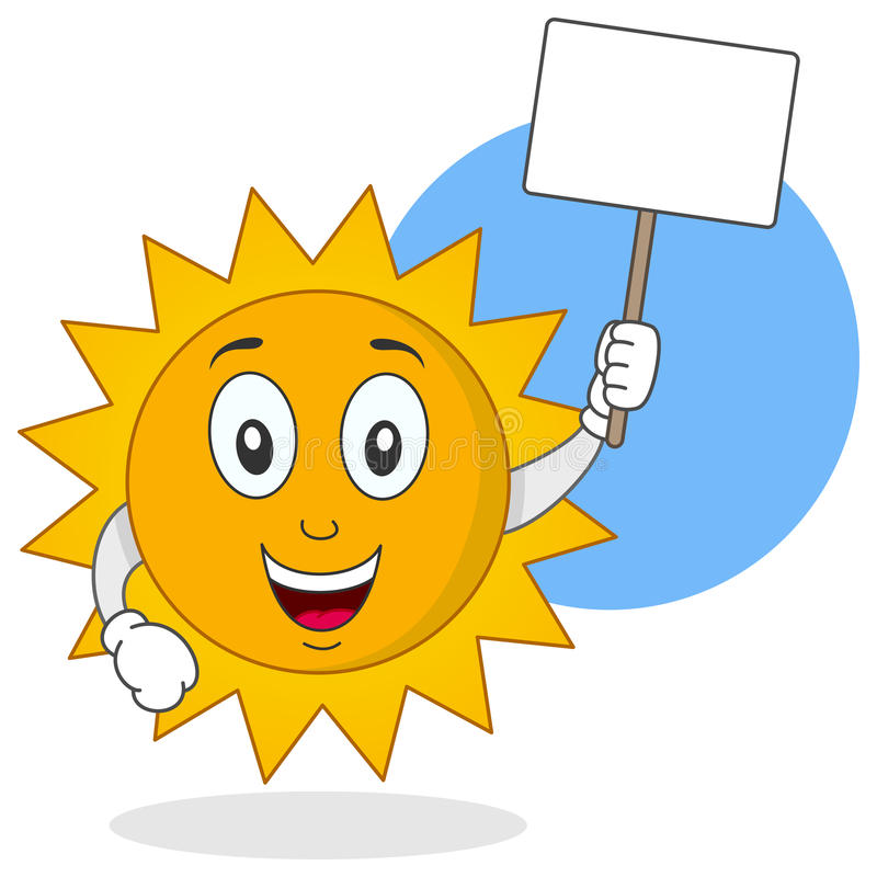 Download Summer Sun Character Holding Sign Stock Vector - Illustration of colourful, smiling: 40018433