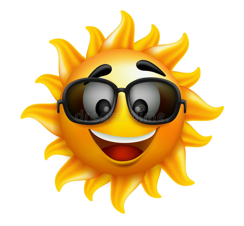 Free Summer Sun Face With Sunglasses And Happy Smile Stock Images - 51416234