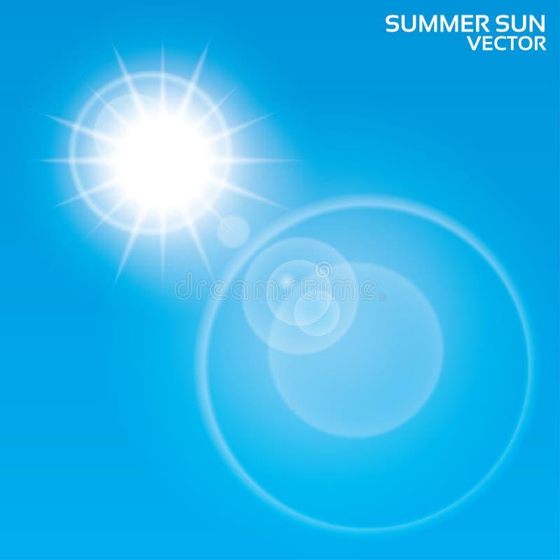 Summer sun lens flare background. Vector. vector illustration