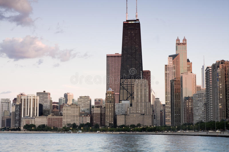 Summer sun rays in Chicago royalty free stock photo