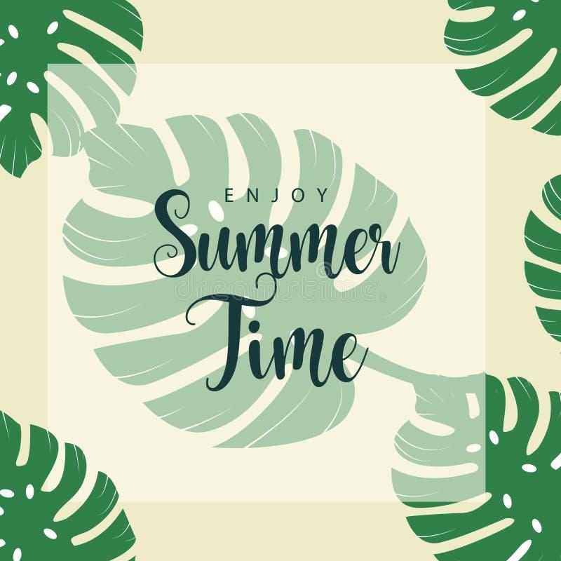 Enjoy Summer Time Vector Template Design Illustration royalty free illustration