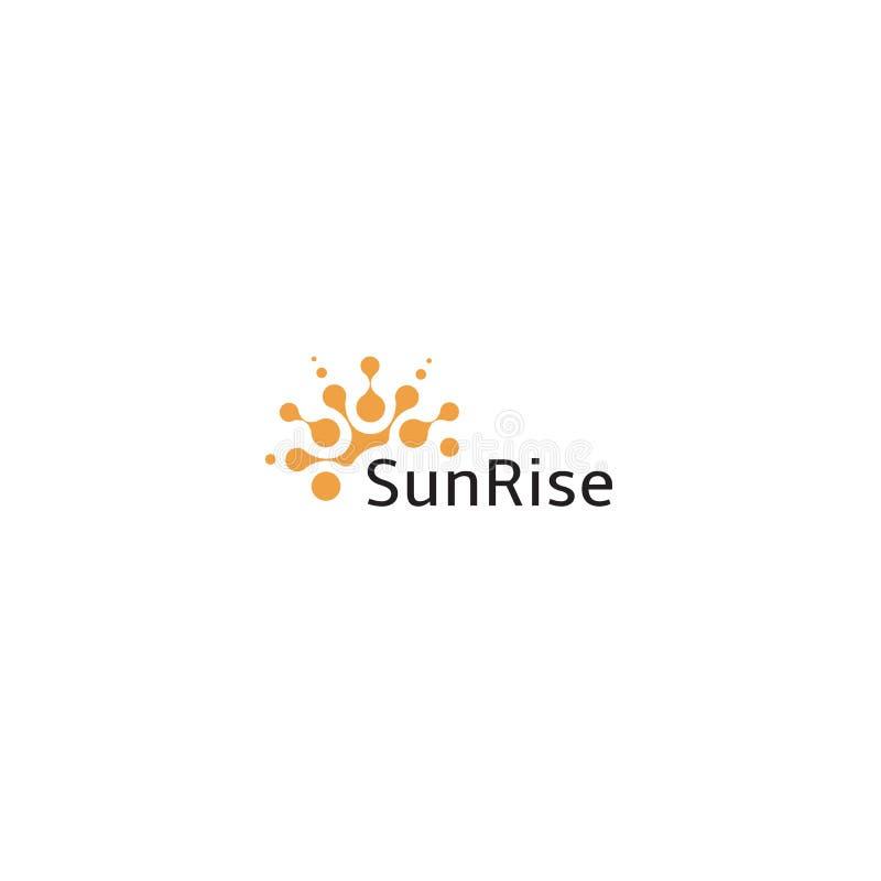 Summer sun vector icon, abstract orange modern logo. Circle sunny shape, beauty illustration. Sunrice logotype template royalty free illustration