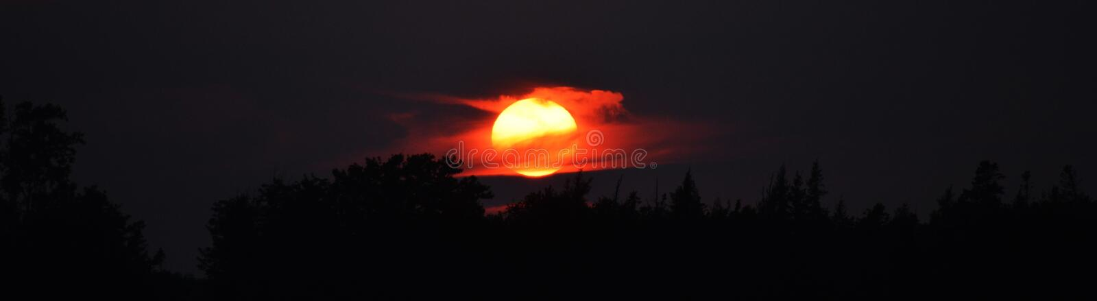 Summer Sunset in Cherry Valley. Picture taken at a summer garden party in Prince Edward Island from a home I spent my summers as a child. Very special night stock photography