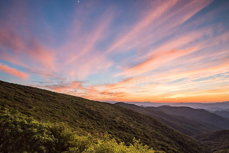 Summer Sunset at Craggy Gardens royalty free stock images