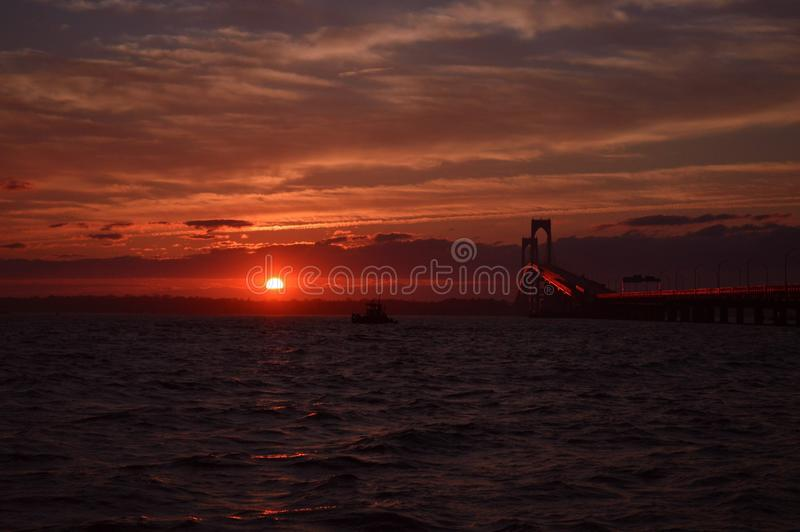Summer sunset royalty free stock photos