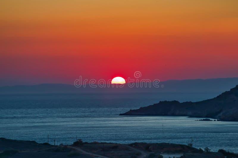 Greek Summer Sunset. stock images