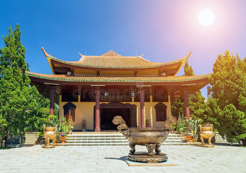 Summer sunset Monastery royalty free stock images