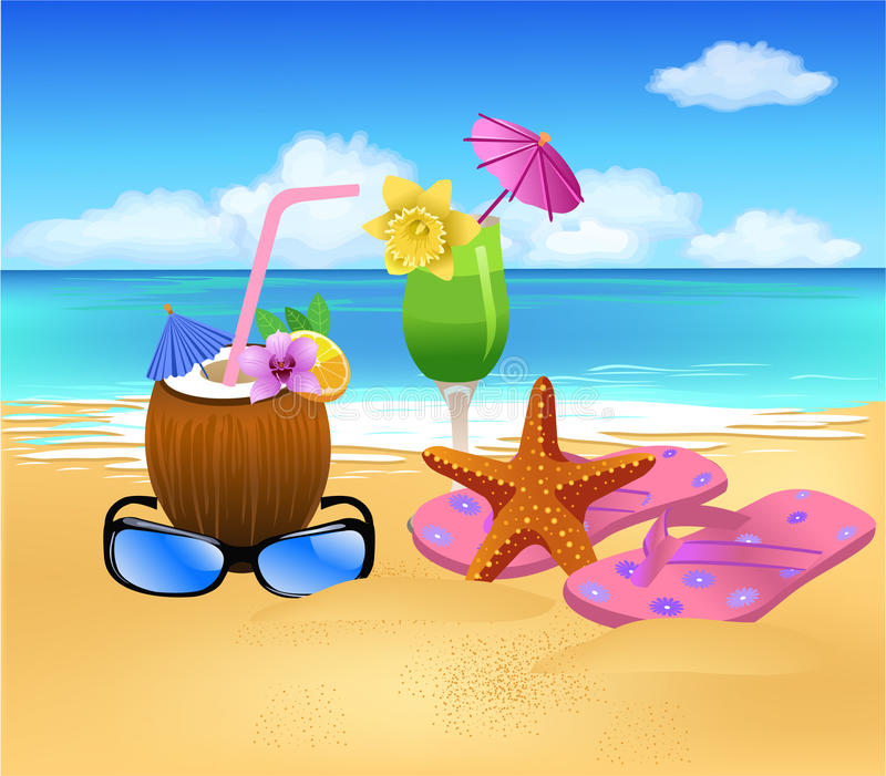 Download Summer symbols stock vector. Image of seaside, colorful - 31549292