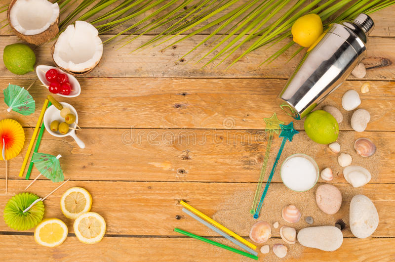 Summer table stock photography
