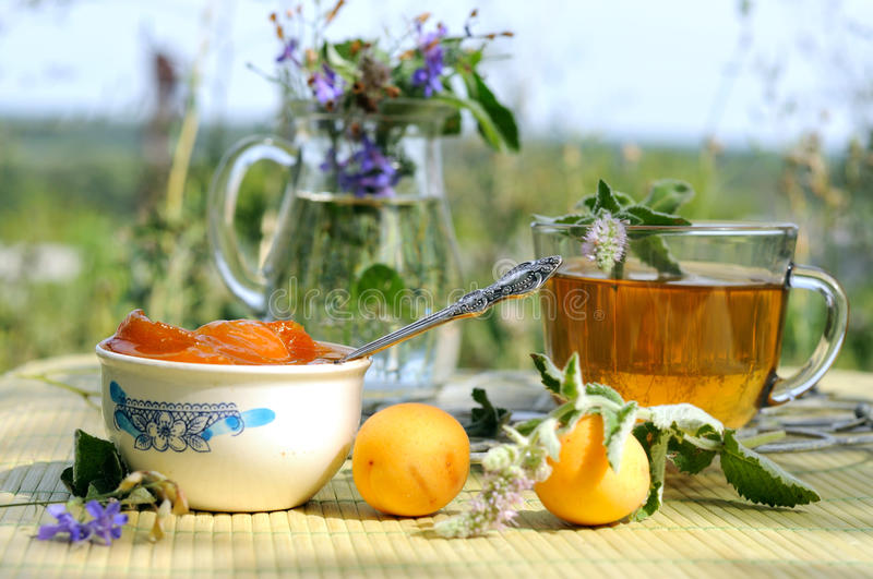 Download Summer tea time stock photo. Image of jams, time, natura - 15411026