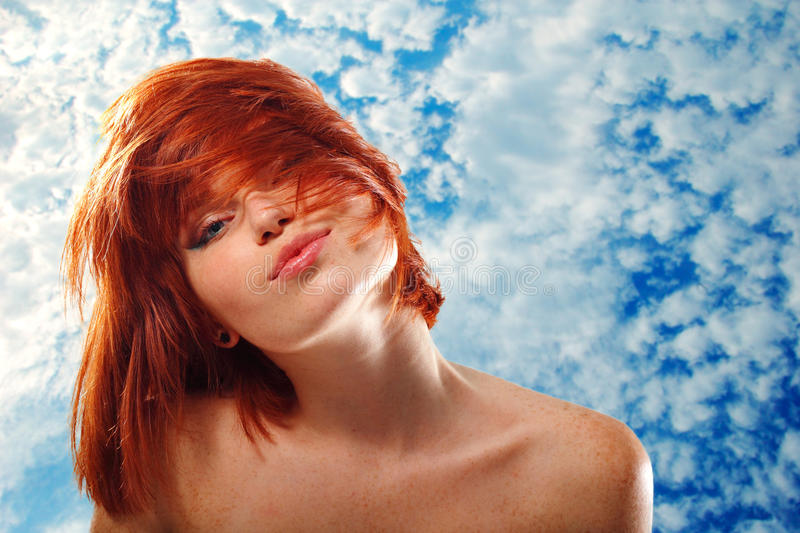Download Summer Teen Girl Beautiful Freckles Redheaded Stock Image - Image: 22562171