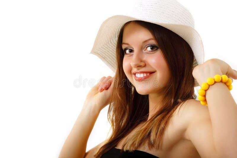 Download Summer Teen Girl Cheerful In Panama Enjoying Stock Photo - Image of beautiful, caucasian: 22161150
