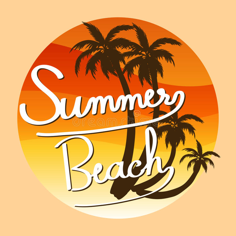 A summer template royalty free illustration