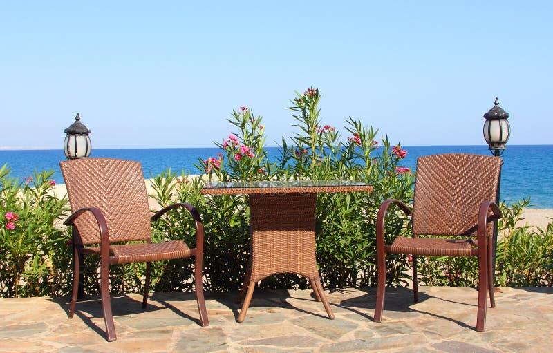 Download Summer terrace stock photo. Image of seashore, blue, still - 21855114