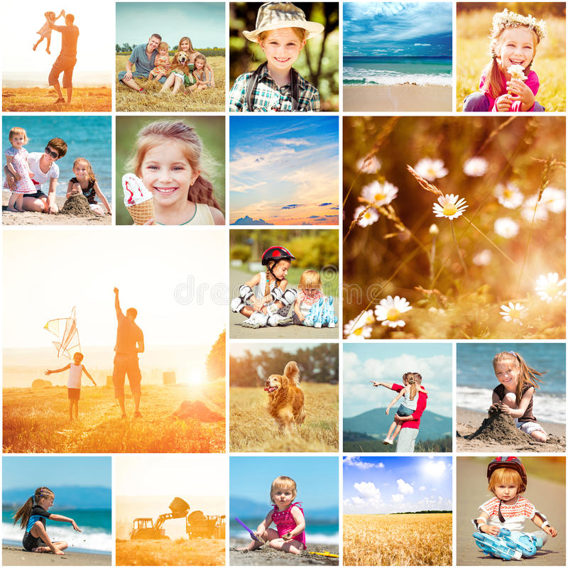 Summer theme. Collage of photos on a summer theme royalty free stock photography