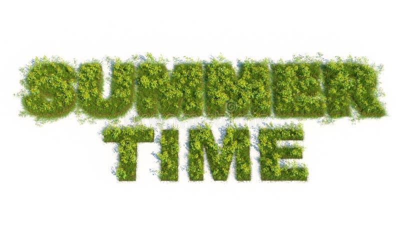 Download Summer time 3d grass test stock illustration. Illustration of environmental - 24596255