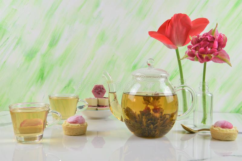 Summer time afternoon tea royalty free stock photos