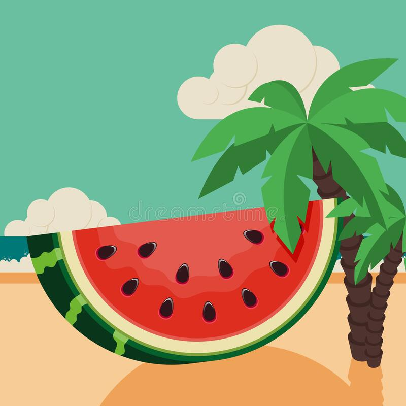 Free Summer Time And Happy Holiday Concept Design Template Background Decorative With Beautiful Beach Royalty Free Stock Image - 218362466