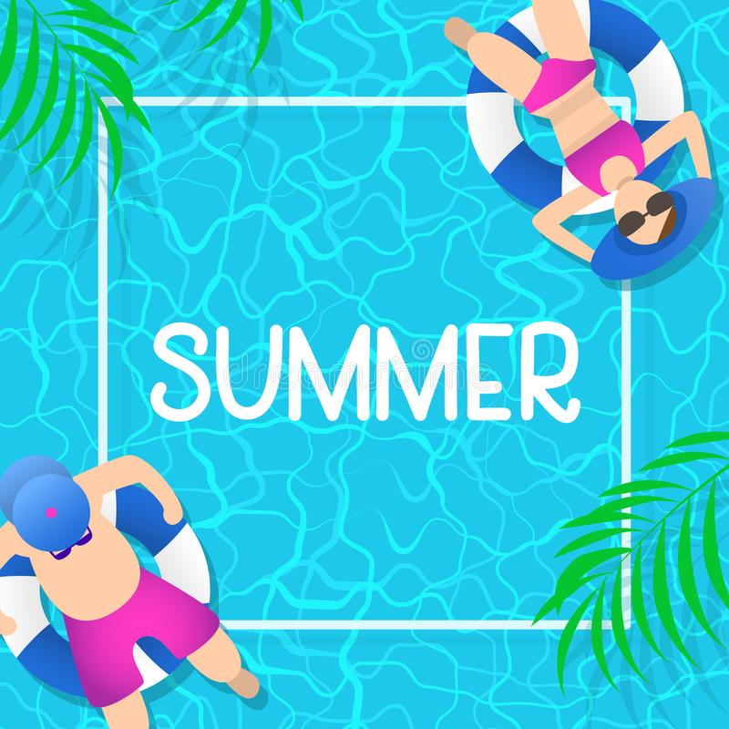 download summer time background design with pool blue water stock vector illustration of relax