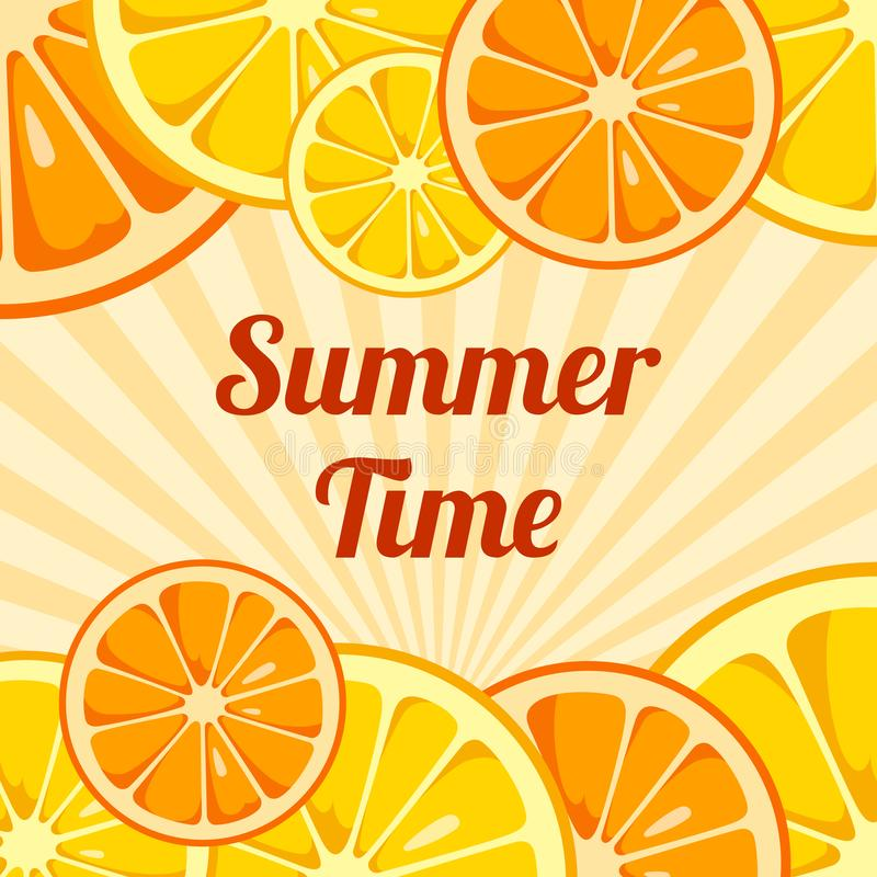 Summer Time background. royalty free illustration