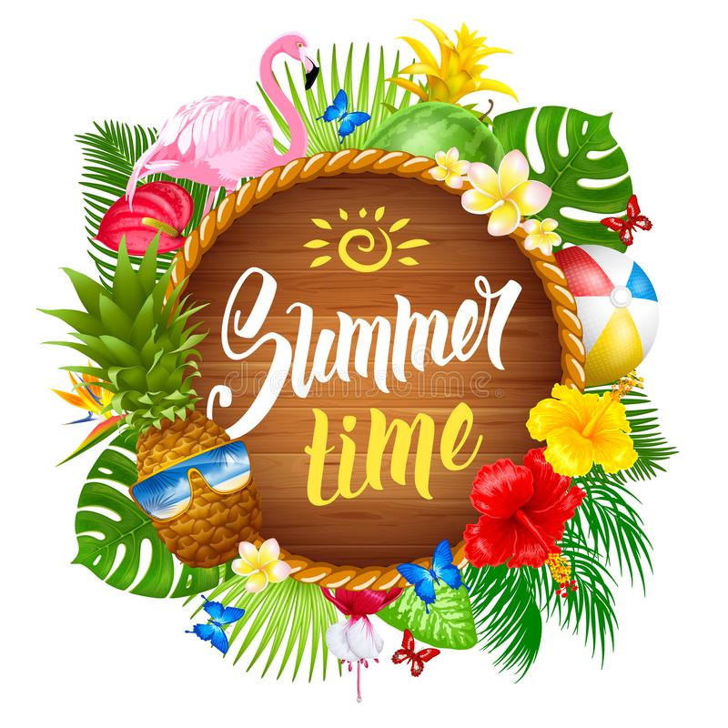 Summer Time royalty free illustration