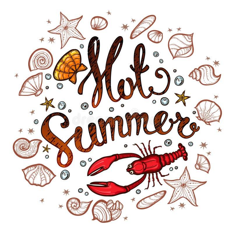 Summer time banner for promotion, poster vector illustration