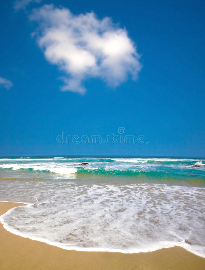 Summer time on beach royalty free stock photos