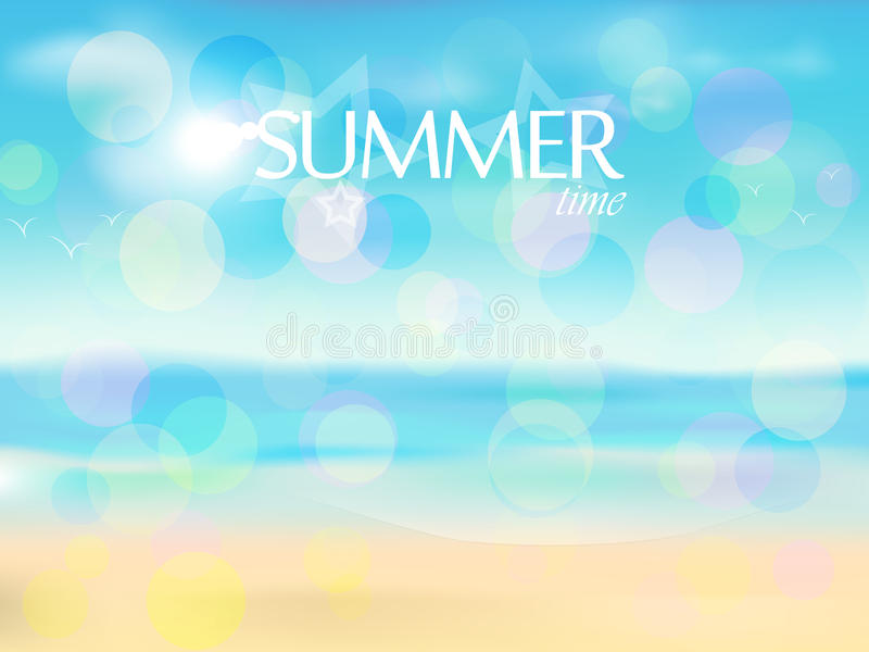 Summer time. Bright, Sunny, warm, a favorite summer time royalty free illustration