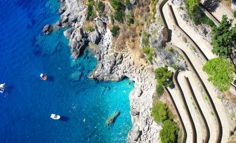 Summer time in Capri island, italy stock photos