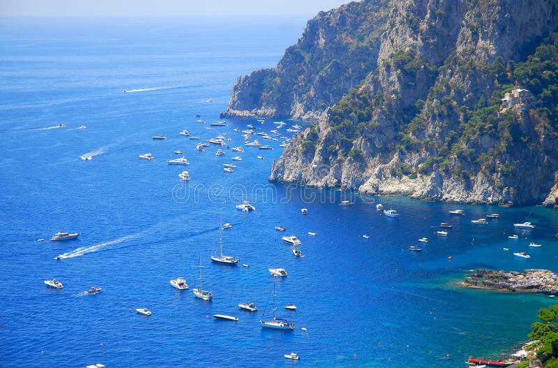 Summer time in Capri island royalty free stock photo