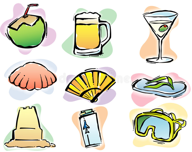Summer Time illustrations royalty free stock photo