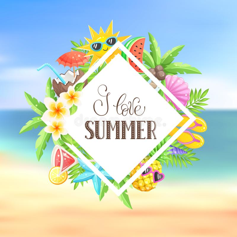 Free Summer Time Poster Stock Images - 100491574