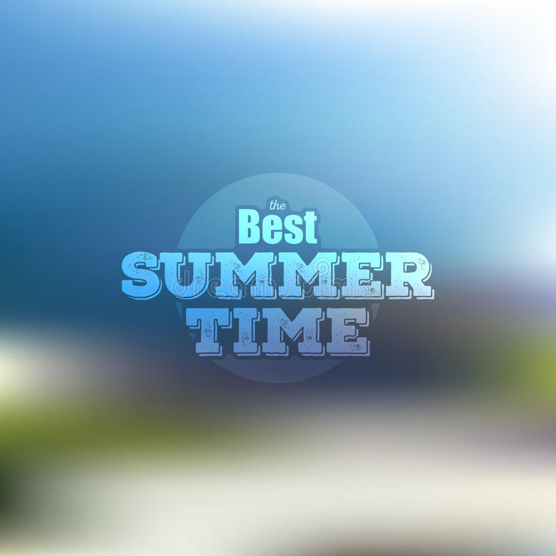 Summer time poster, vector web and mobile vector illustration