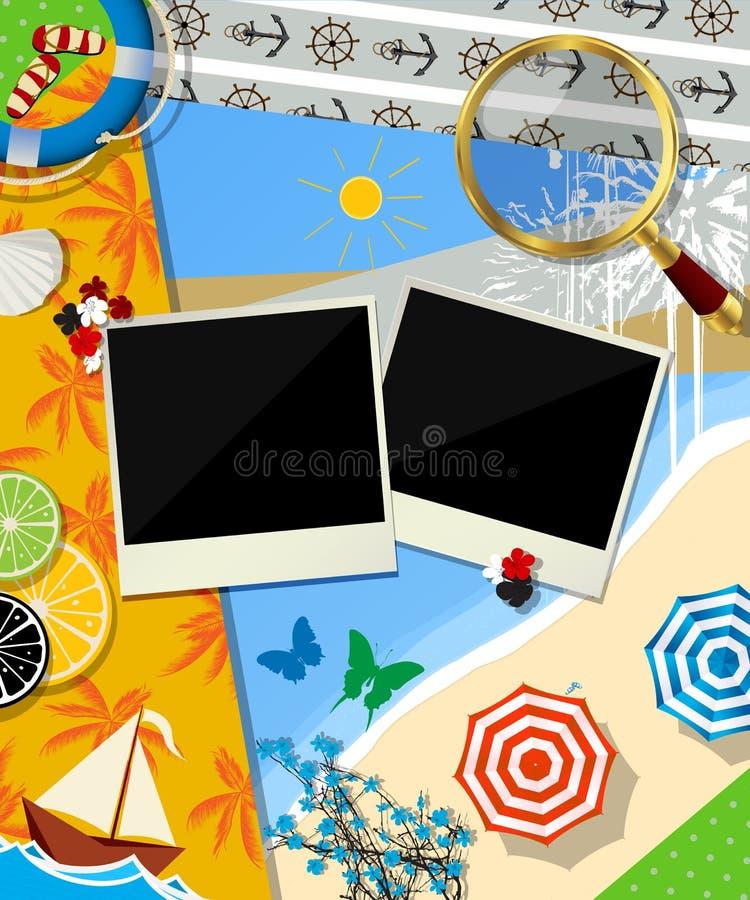 Download Summer Time Scrapbook Design Stock Vector - Image: 29824824